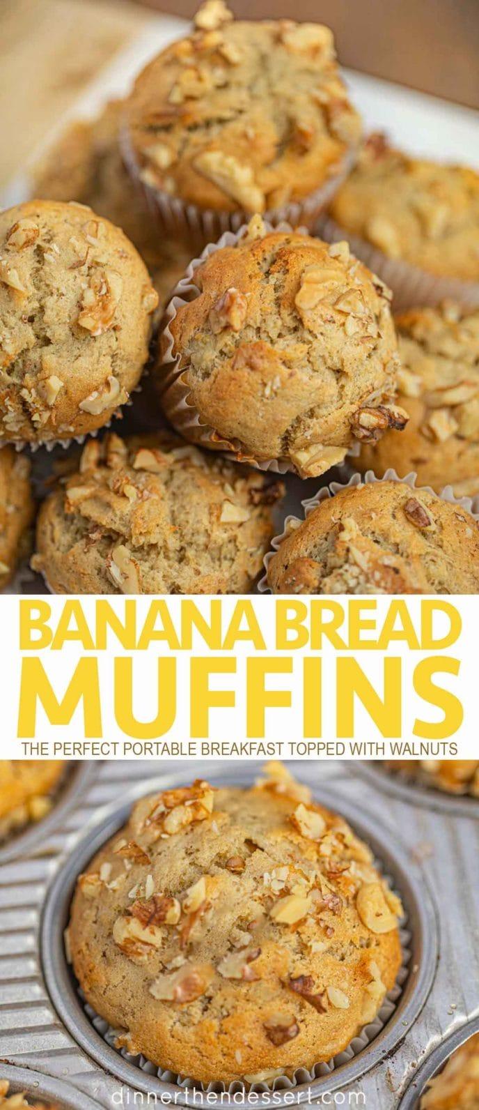 Banana Bread Muffins with walnuts