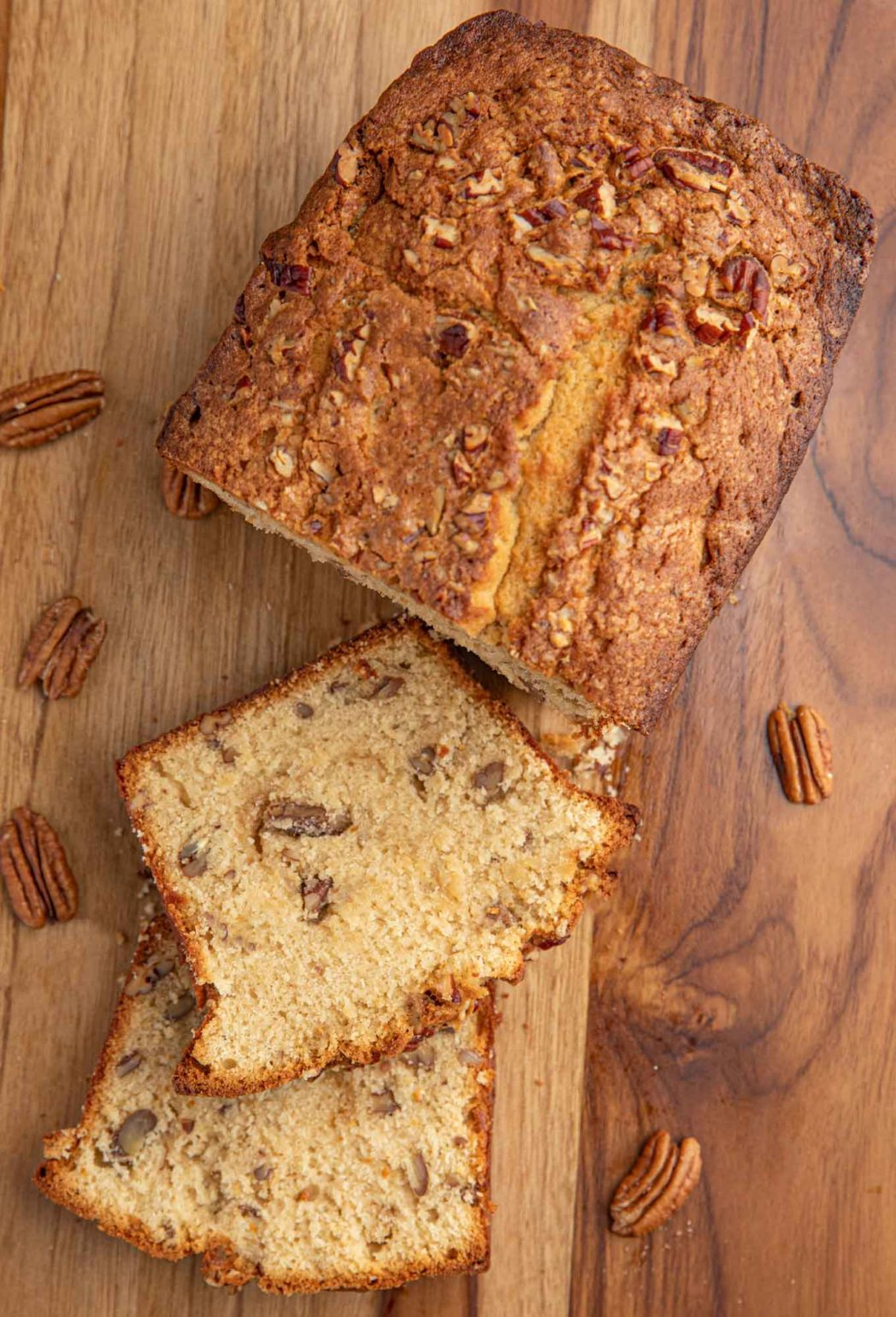 Brown Sugar Pound Cake with nuts