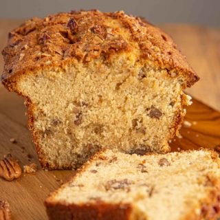Brown Sugar Pound Cake with pecans