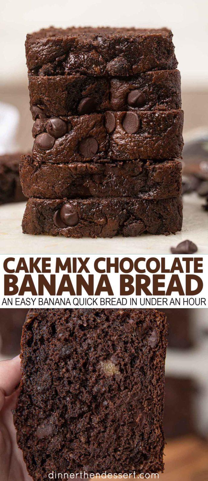 Cake Mix Chocolate Banana Bread