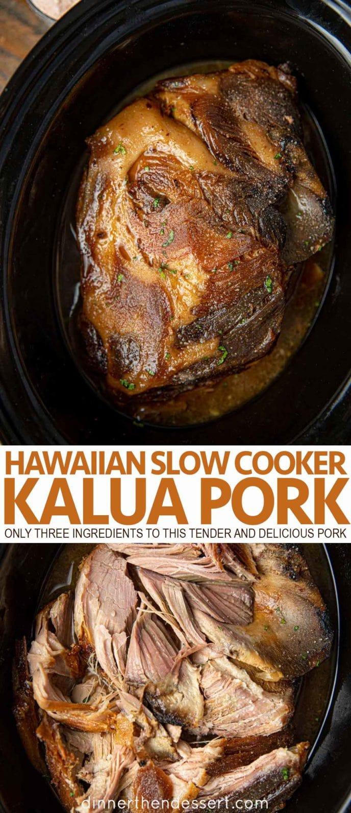 Kalua Pork in a slow cooker