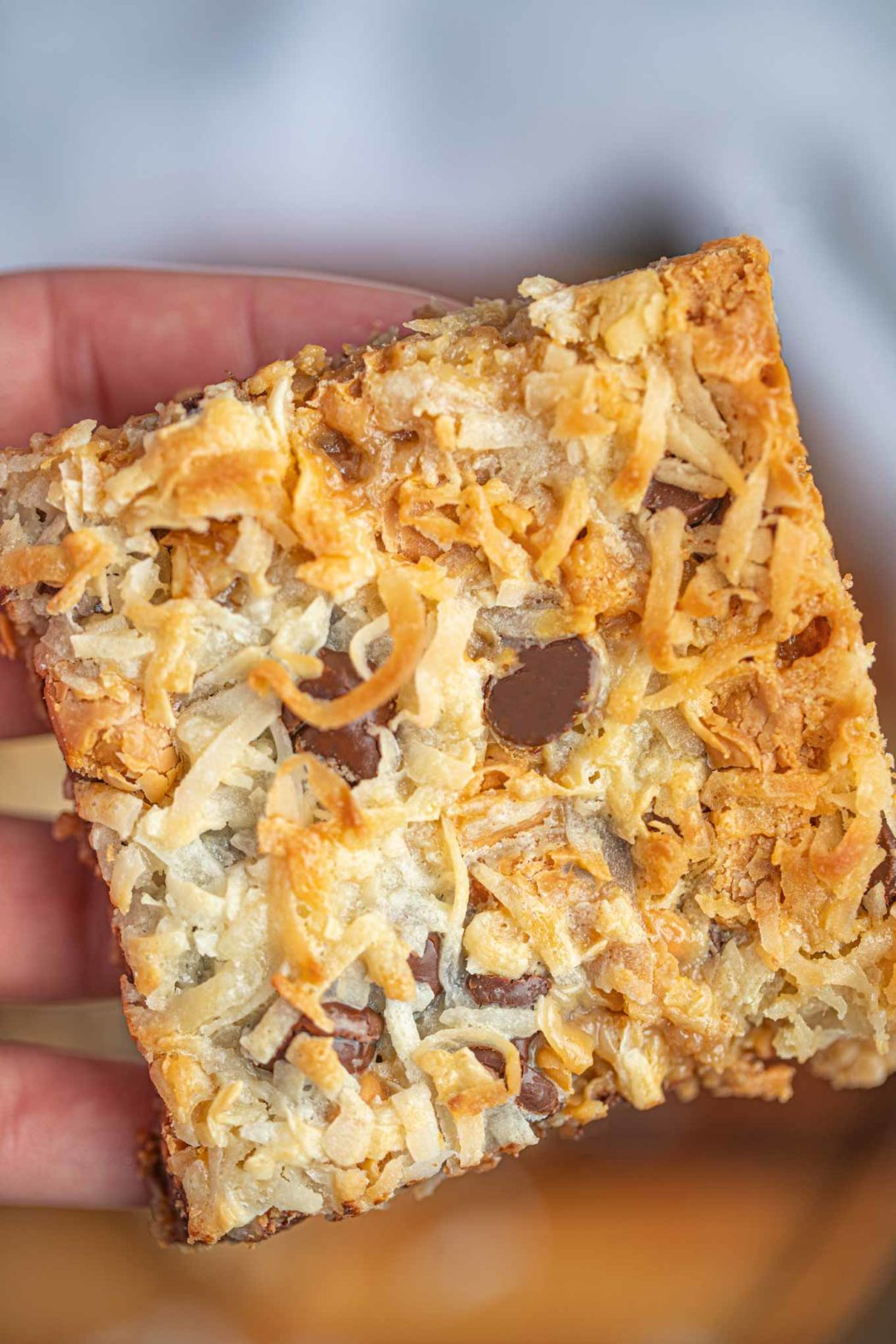 Piece of Magic Cookie Bars