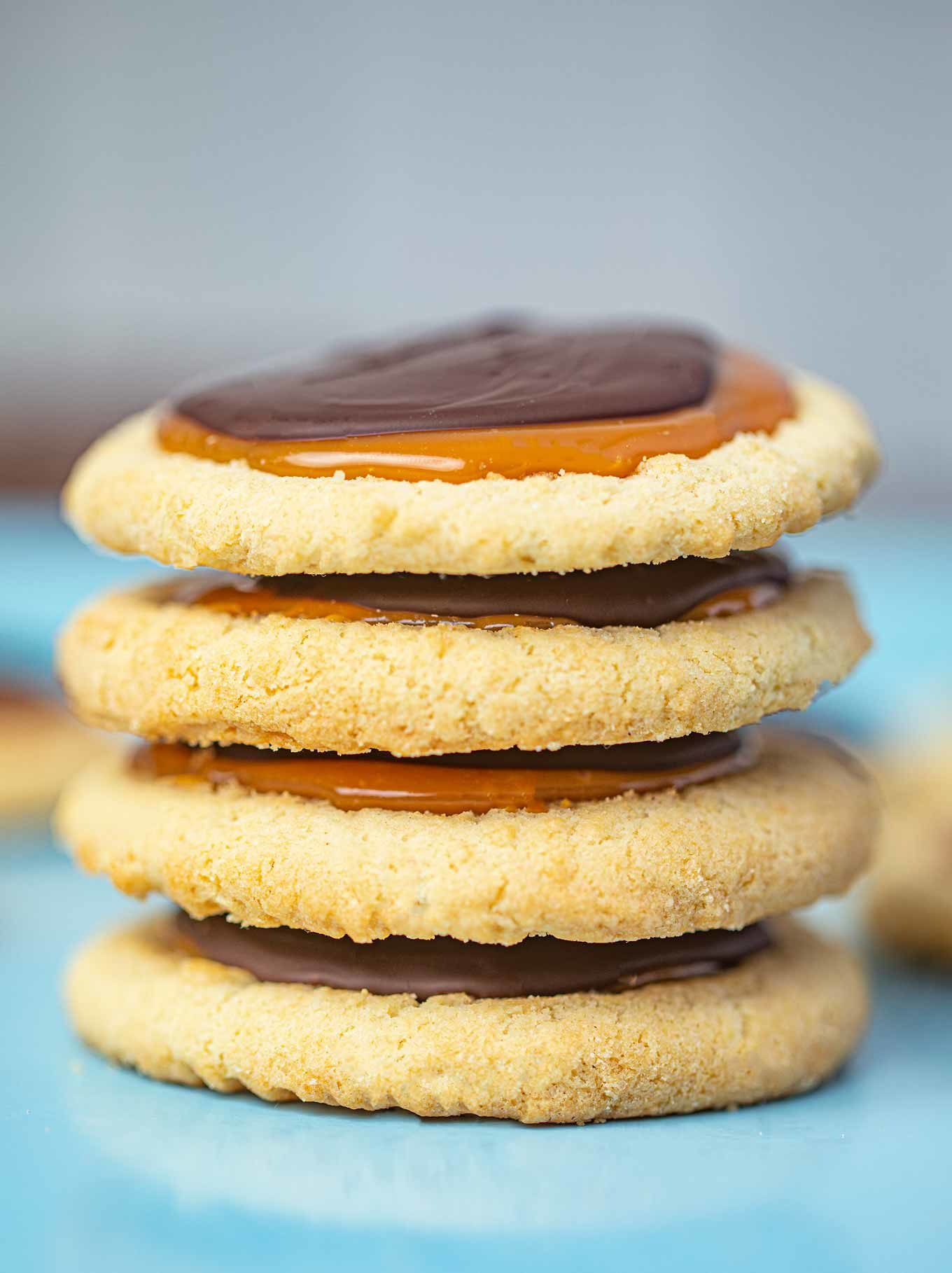 Stack of Twix Cookies