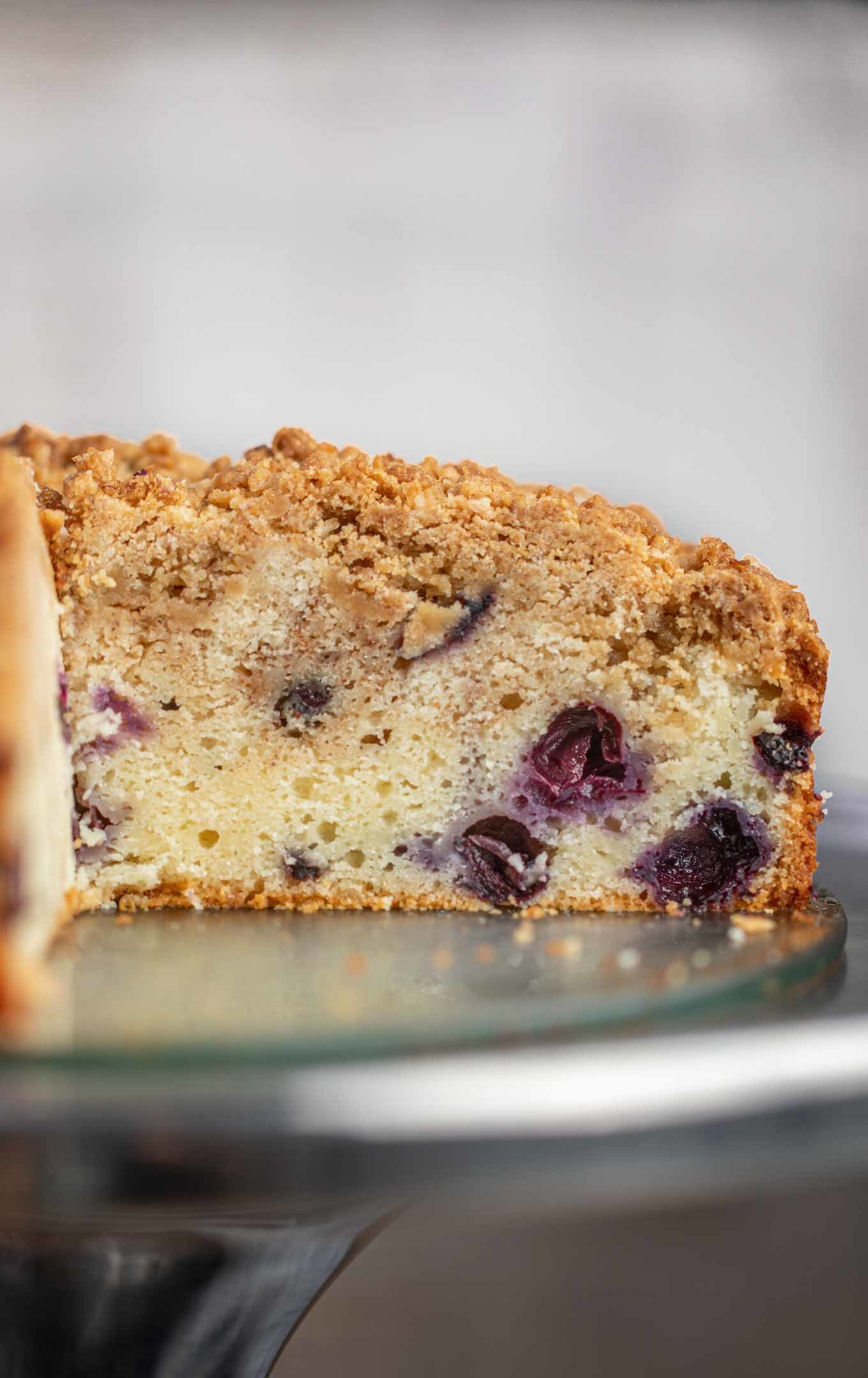 Cut Blueberry Coffee Cake