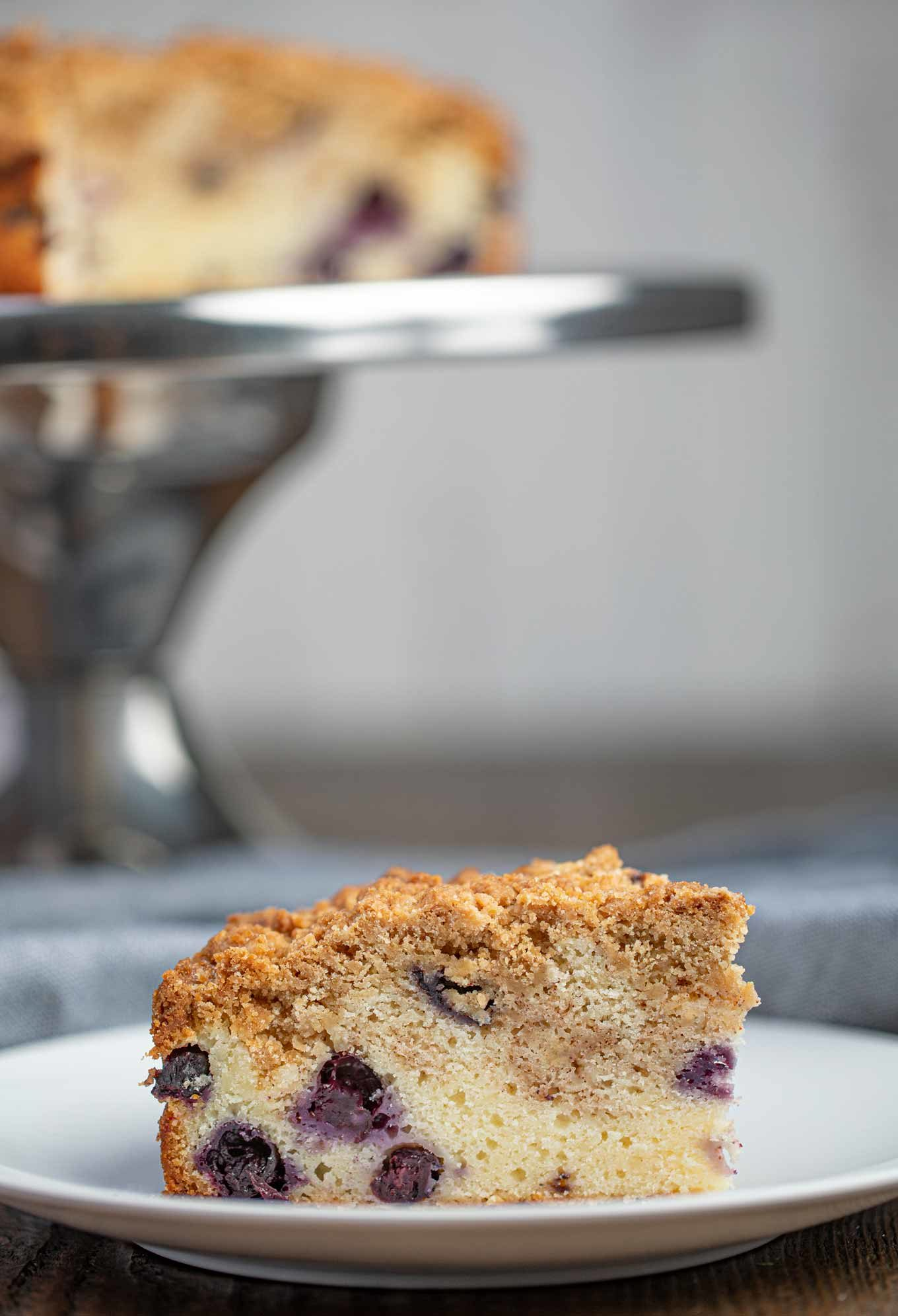 Slice of Blueberry Coffee Cake