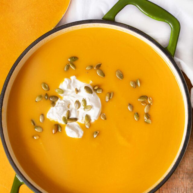 Pot of Butternut Squash Soup