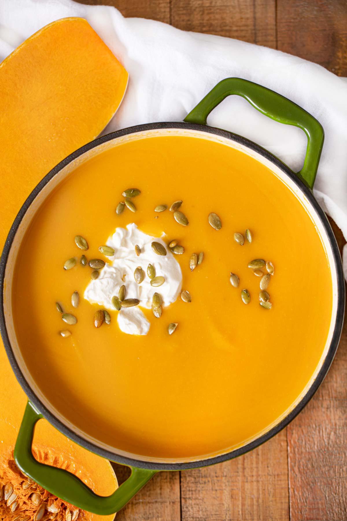 Pot of Butternut Squash Soup
