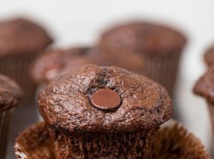 Chocolate Banana Muffin Unwrapped from liner