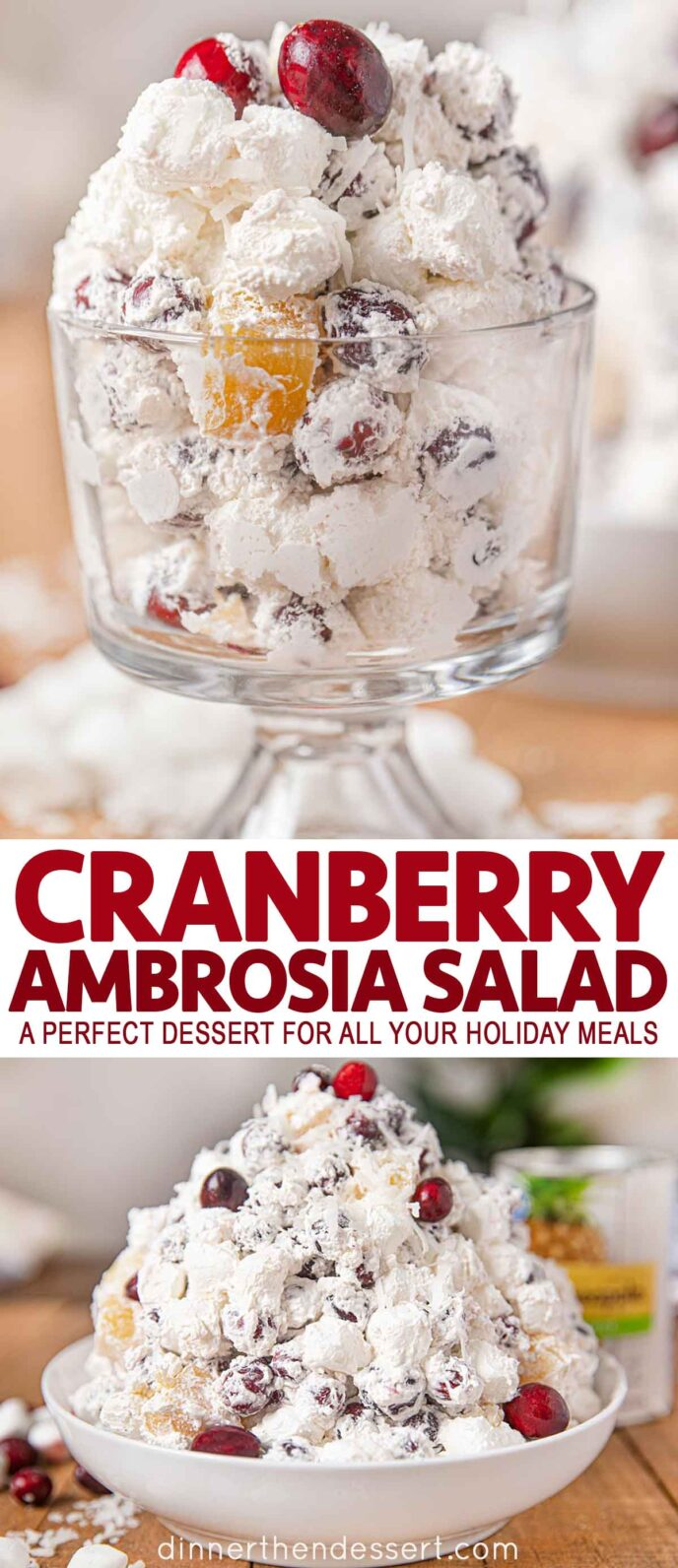Ambrosia Salad with Cranberries