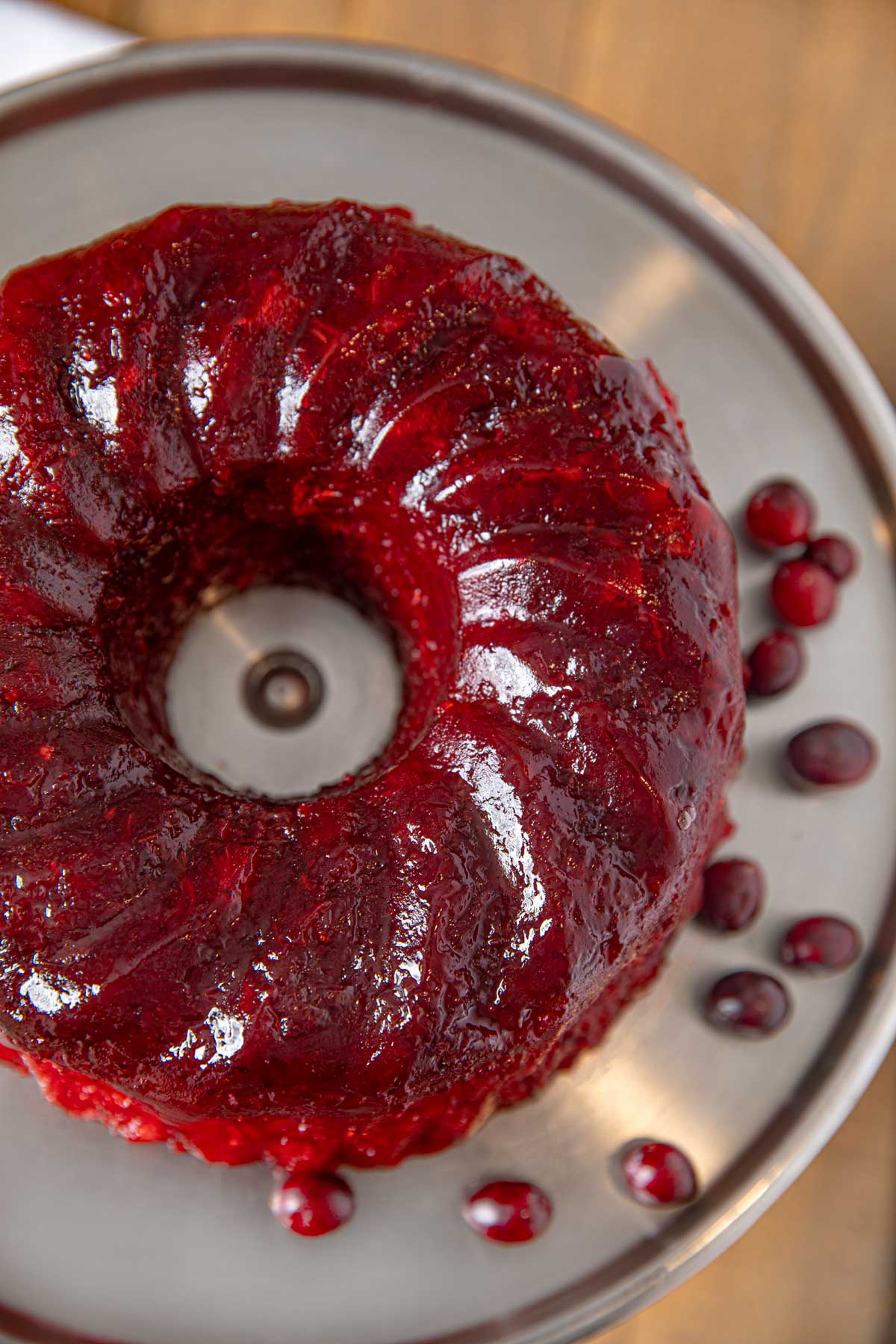 Cranberry Jello Mold with Pineapple and Orange
