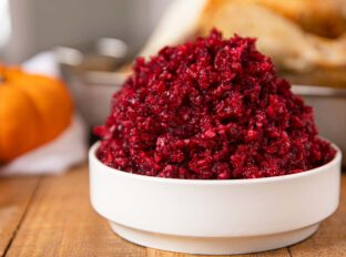 Cranberry Relish in white bowl