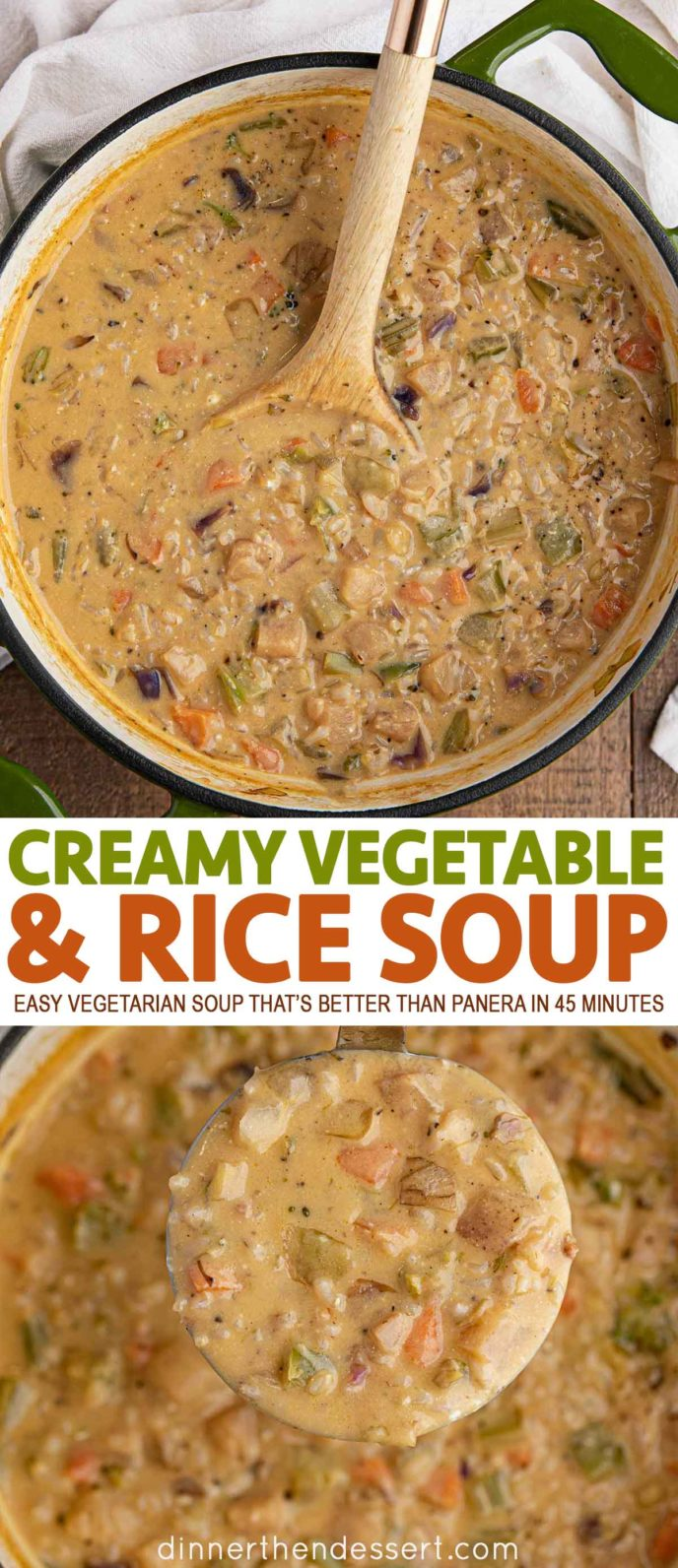 Creamy Vegetable and Rice Soup