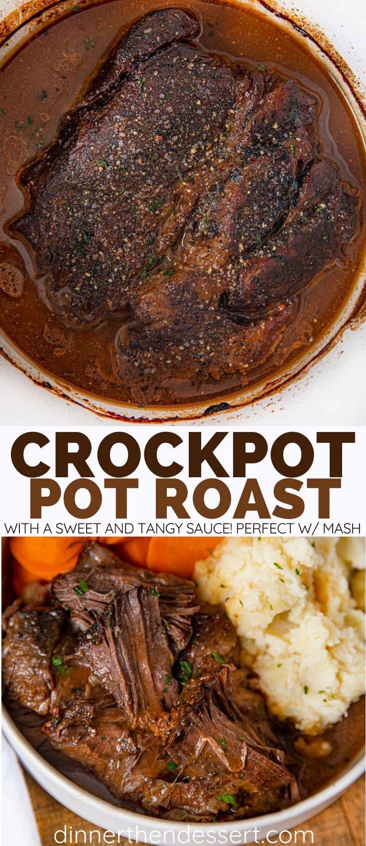 Collage of Crockpot Pot Roast