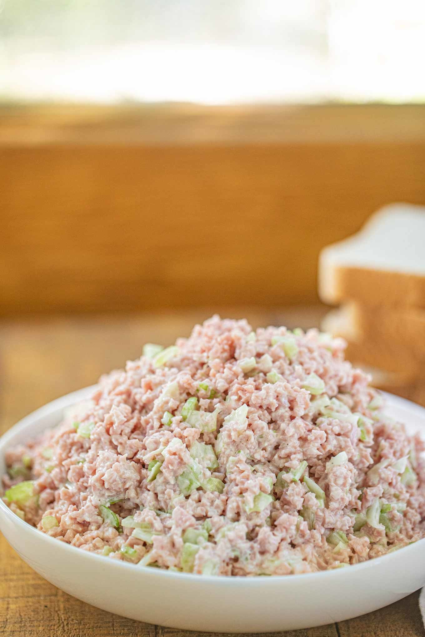 Ham Salad Appetizer in bowl