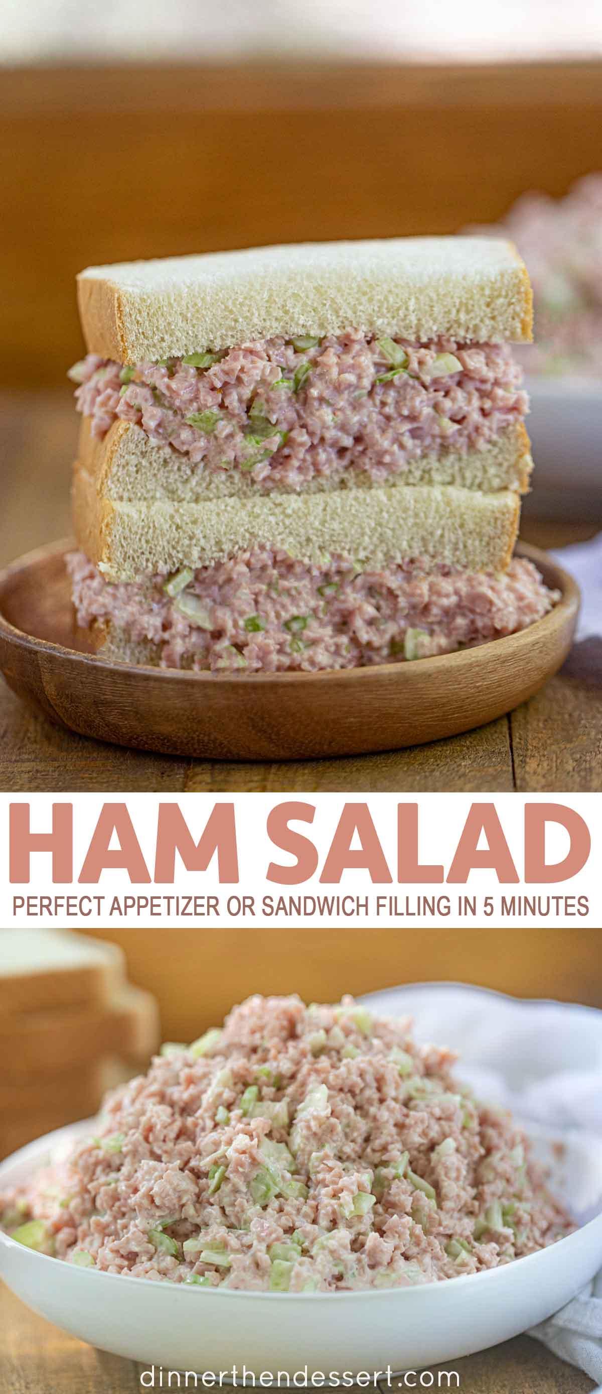 Ham Salad sandwich and bowl
