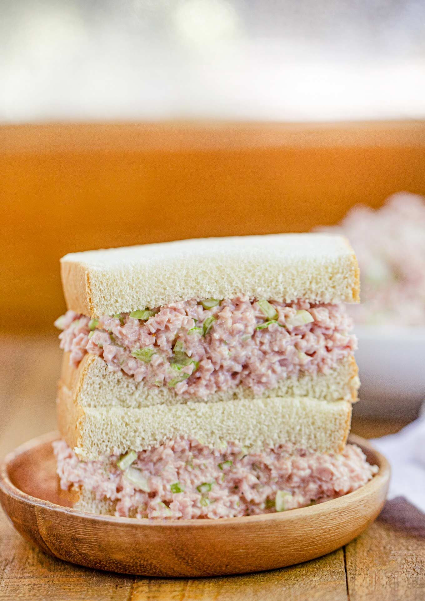 Ham Salad Sandwich on plate