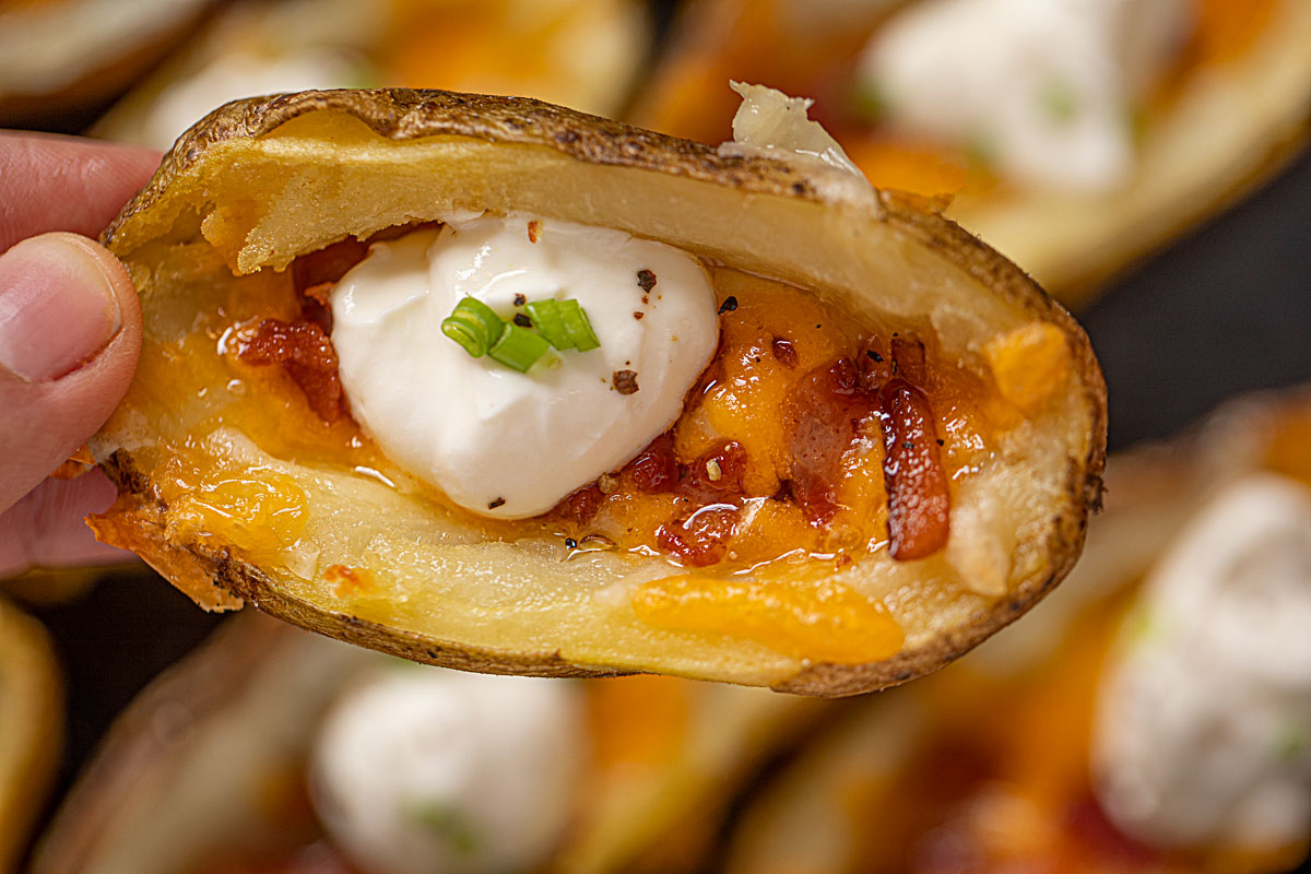 Potato Skins with Bacon and Cheddar