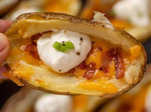 Potato Skins with bacon