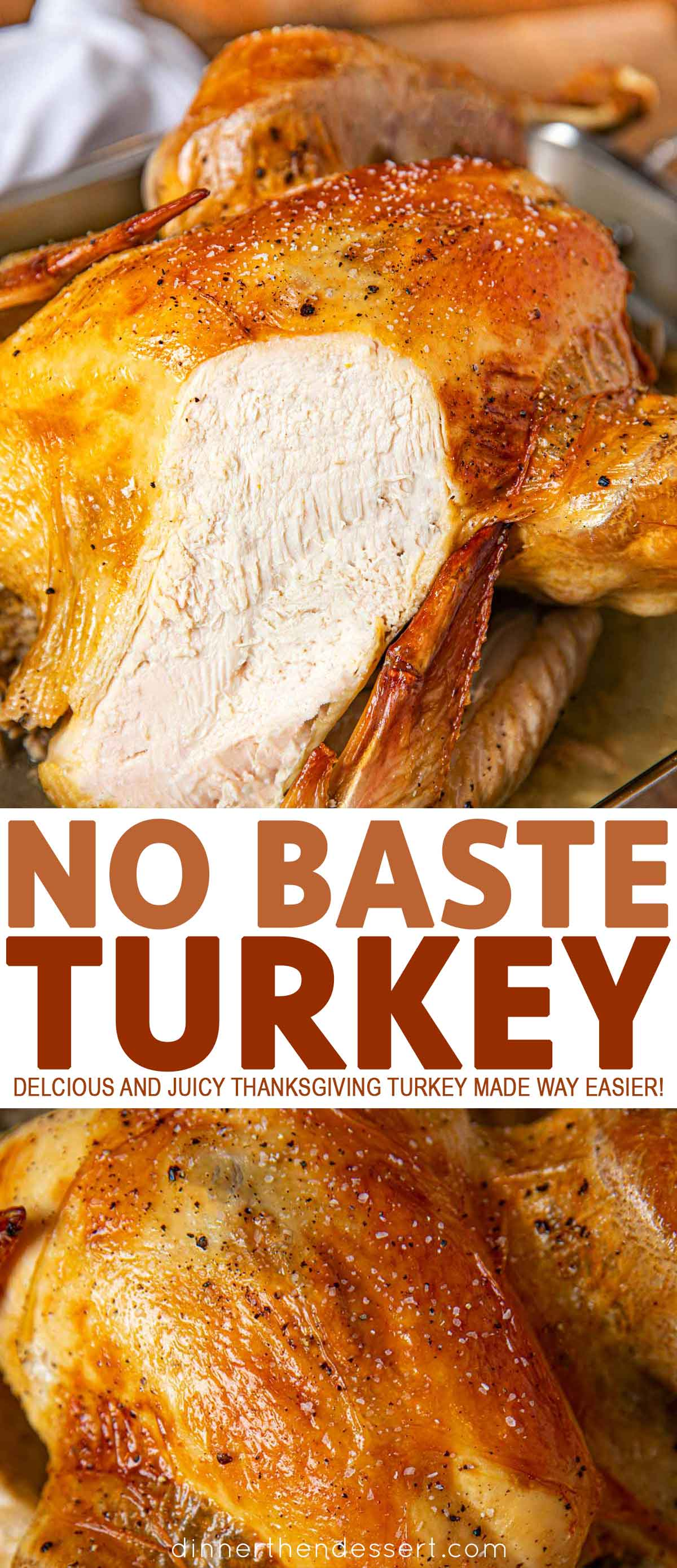 Collage Photos of No Baste Turkey