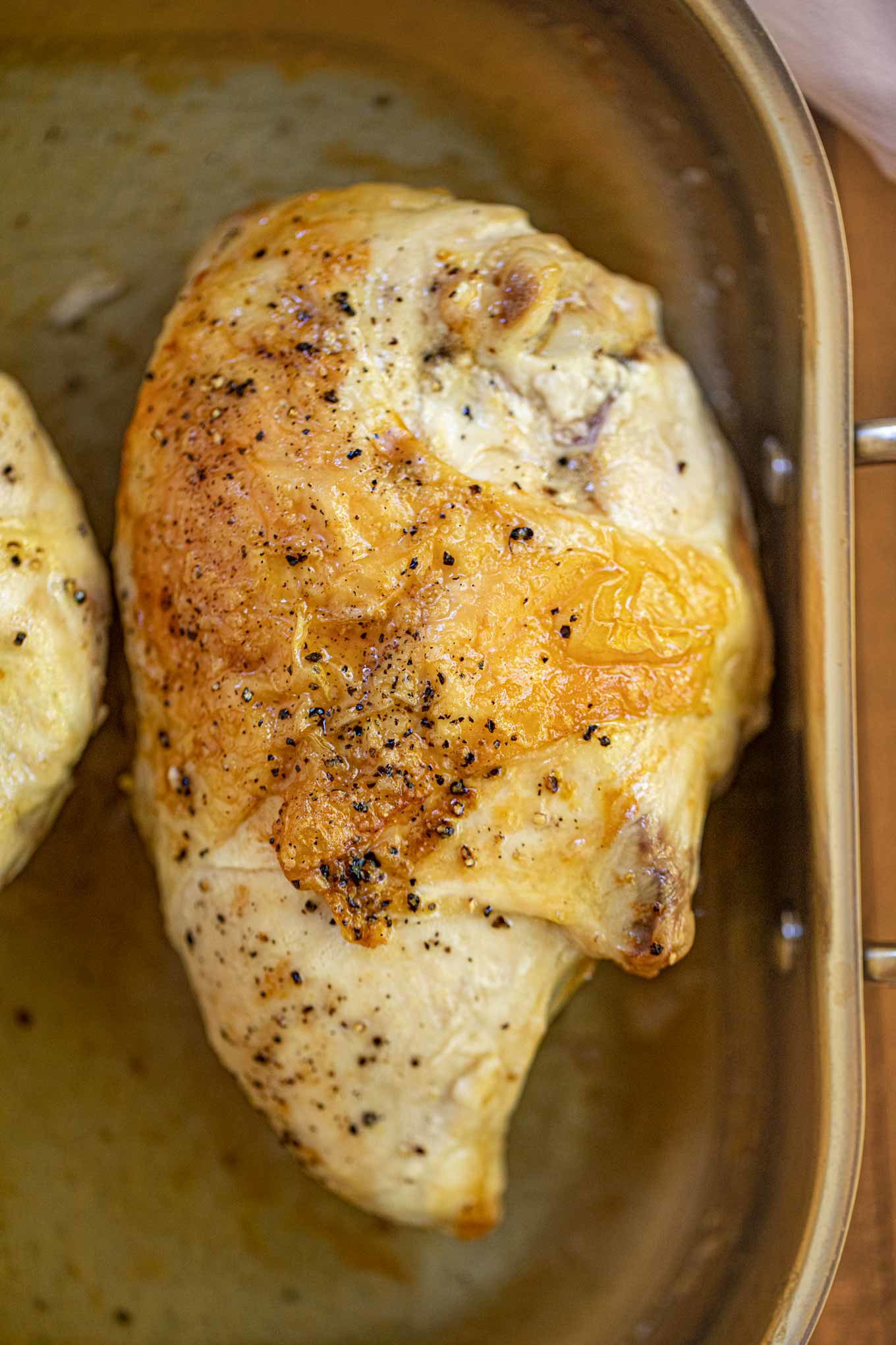 Chicken breast baked in oven