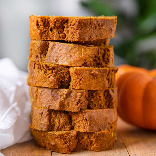 Pumpkin Bread in a stack