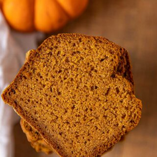 Slice of pumpkin bread