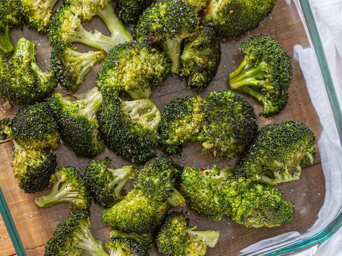 Roasted Broccoli Recipe Perfectly Crisp Tender Dinner Then Dessert