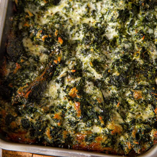 Spinach Gratin in pan