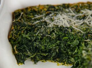 Stouffer's Spinach Souffle slice