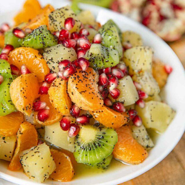 Winter Fruit Salad with Honey Dressing