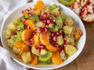 fruit salad with winter fruits