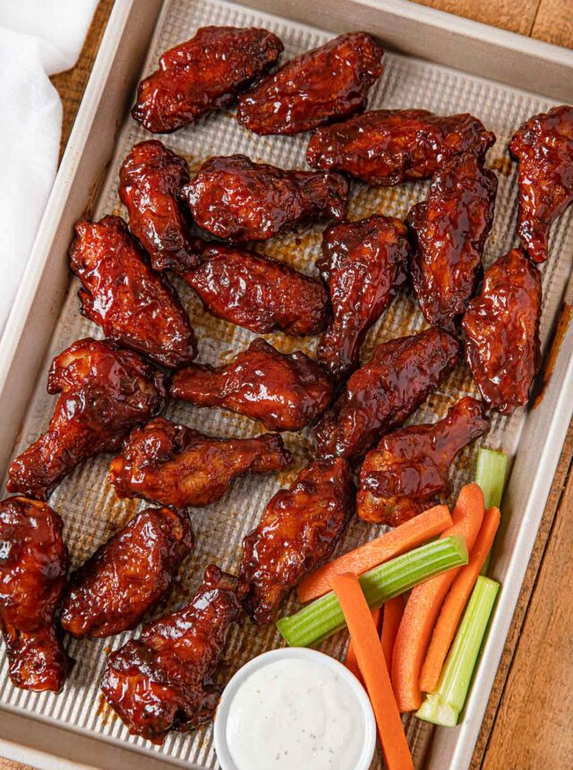 Tray of BBQ Chicken Wings