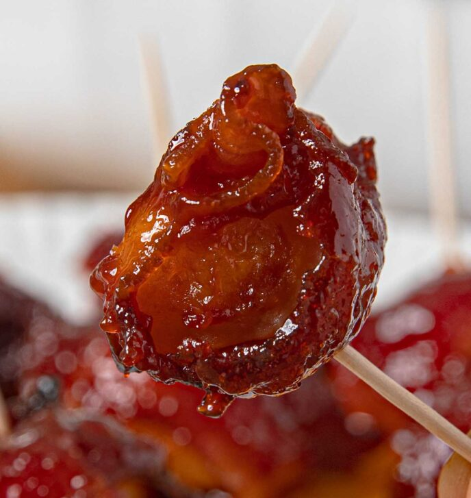 Bacon Water Chestnut on Stick