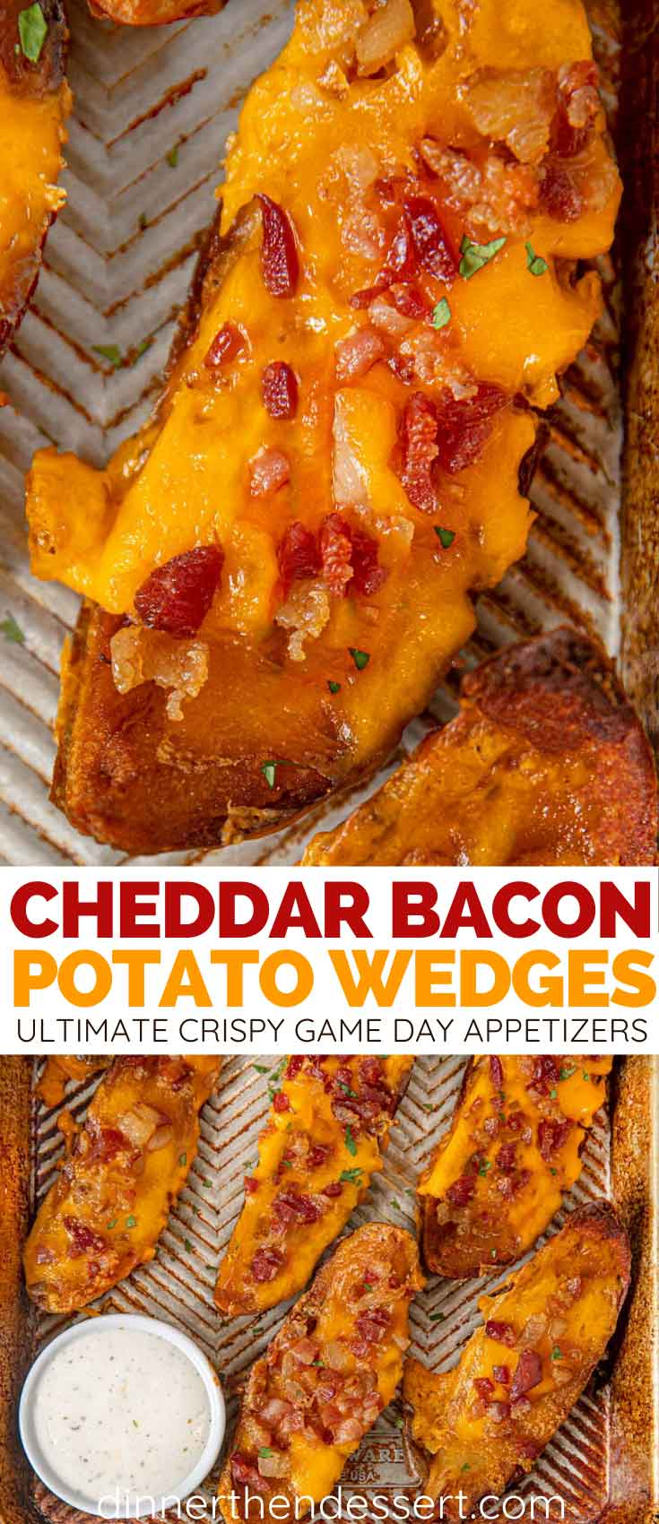 Cheddar Bacon Potato Wedges collage