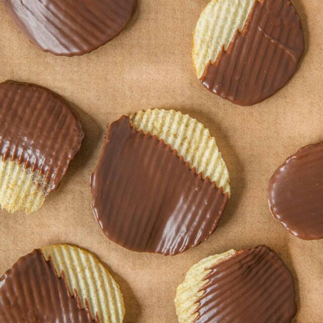 Dipped Potato Chips in Chocolate