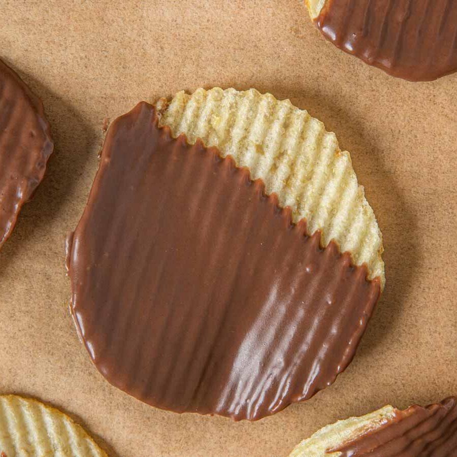 Chocolate Dipped Potato Ruffles Chips