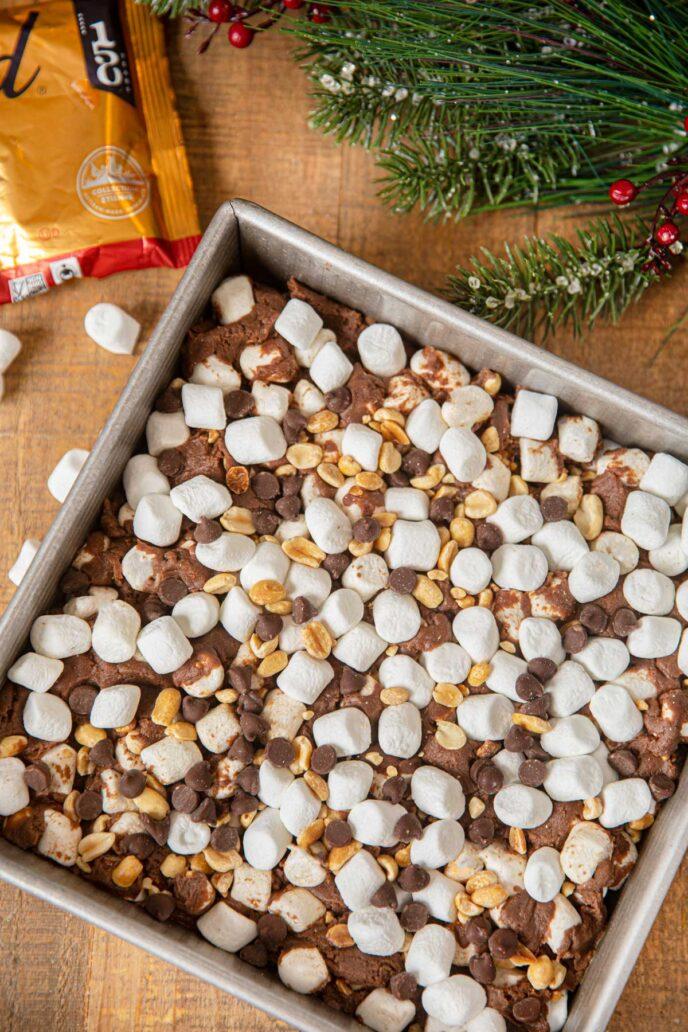 Pan of Chocolate Peanut Marshmallow Squares