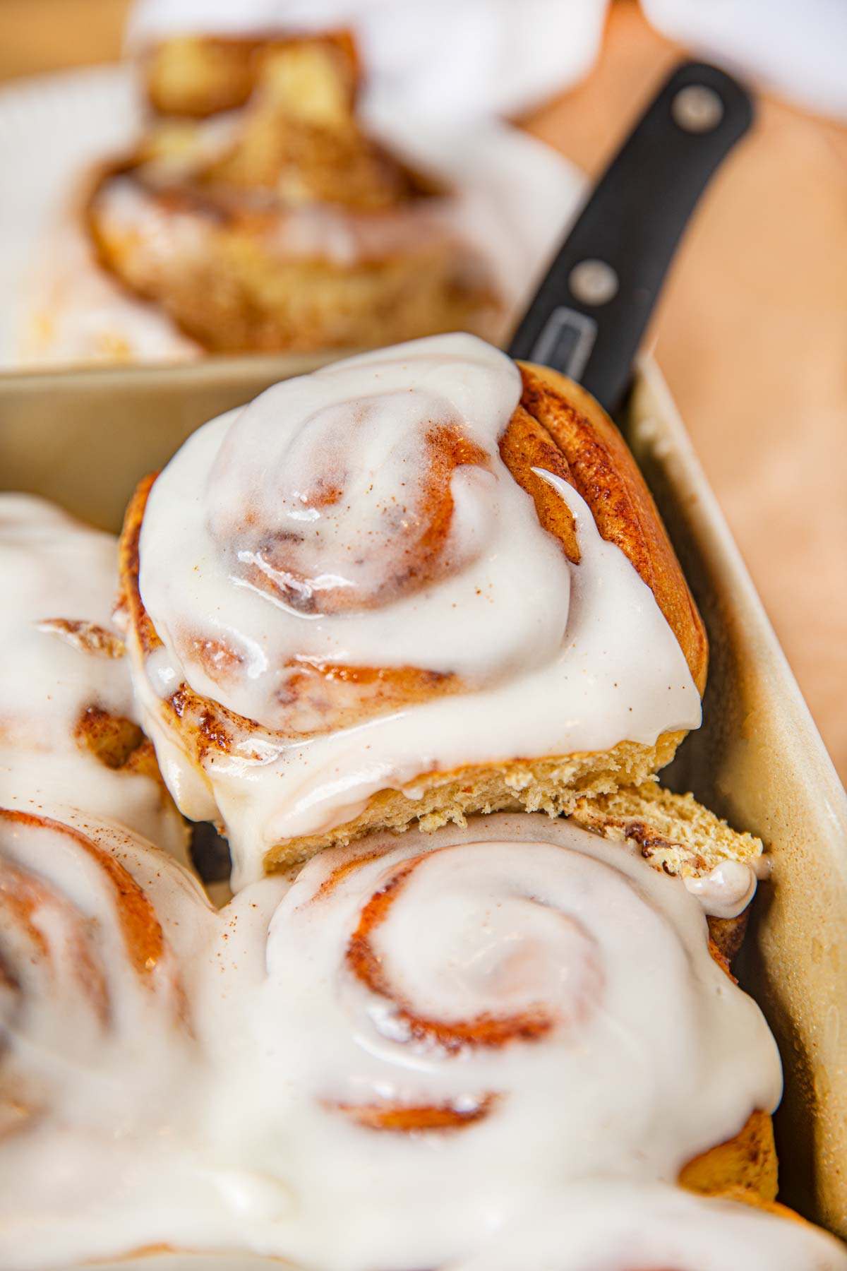 Cinnabon Roll on spatula