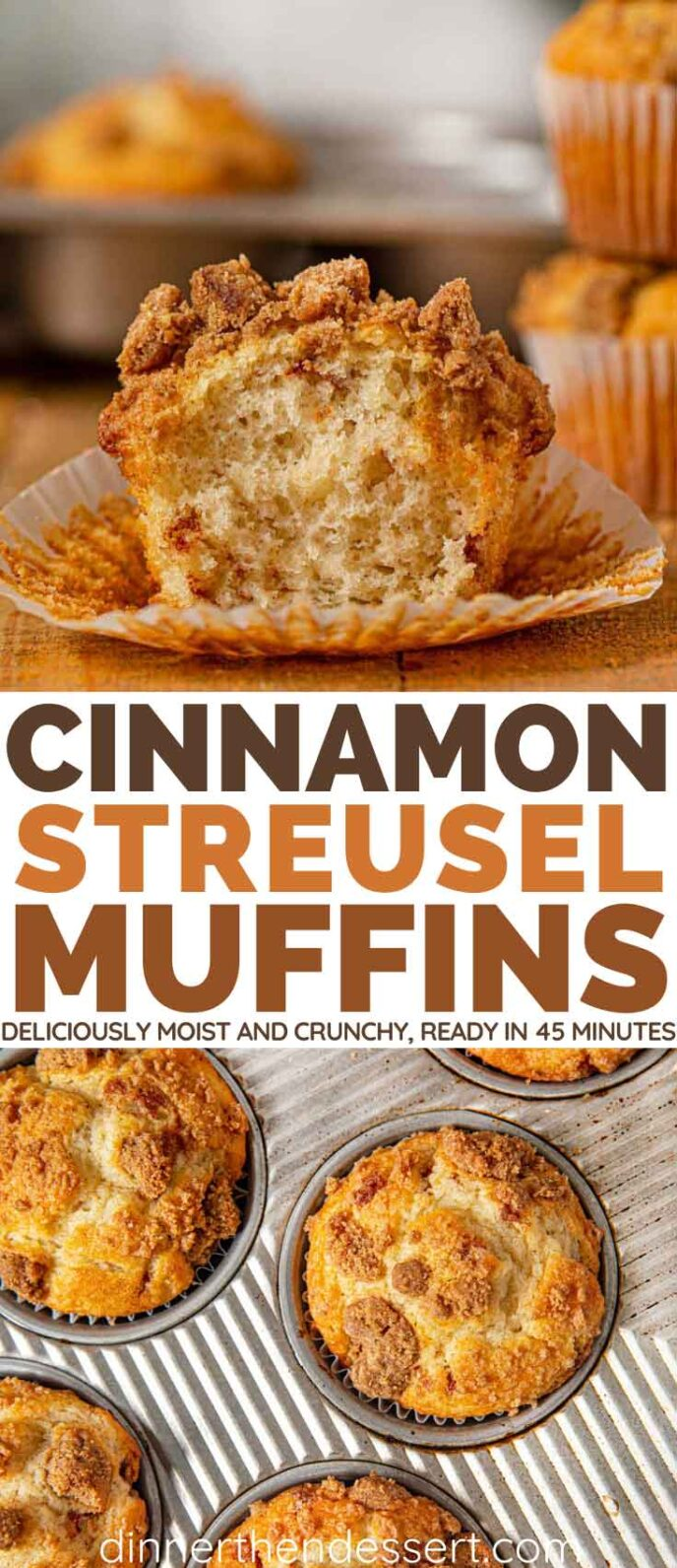 Cinnamon Streusel Muffins Collage