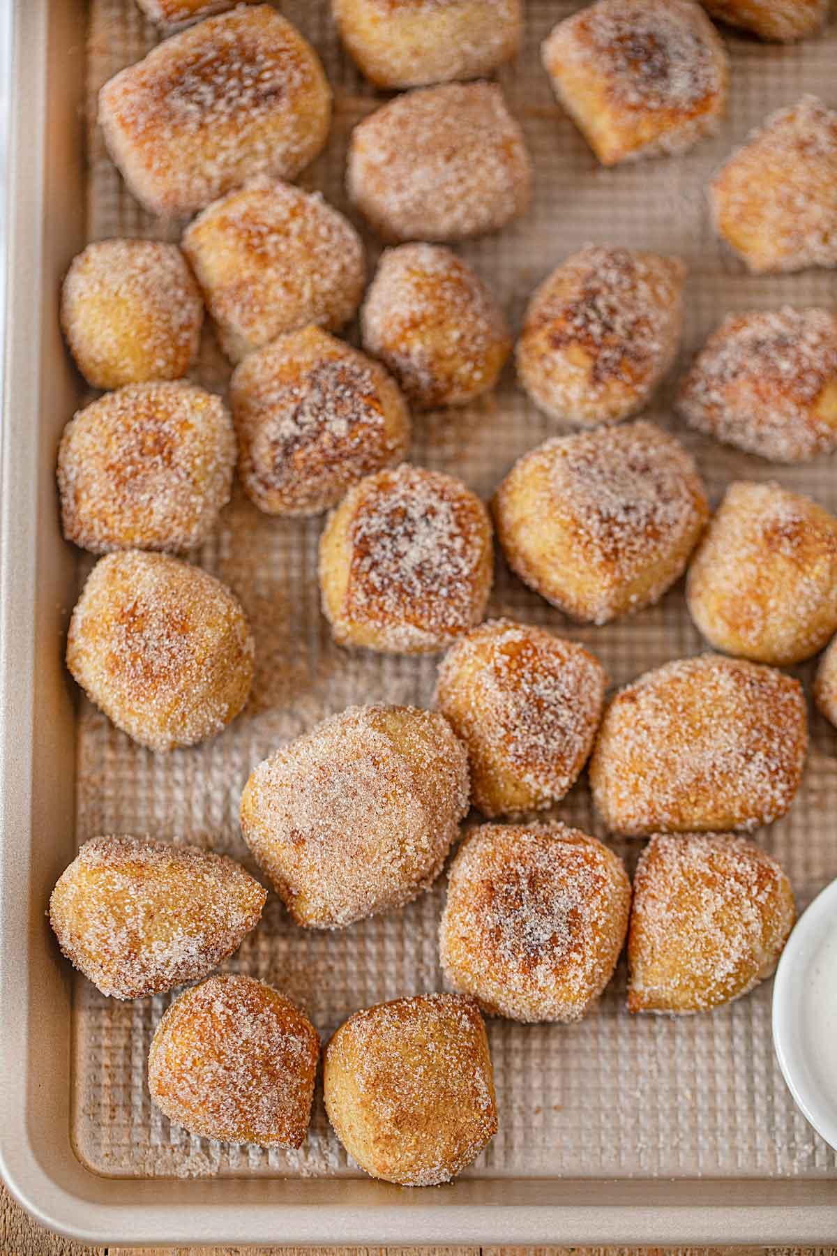Pretzel Bites covered in cinnamon sugar