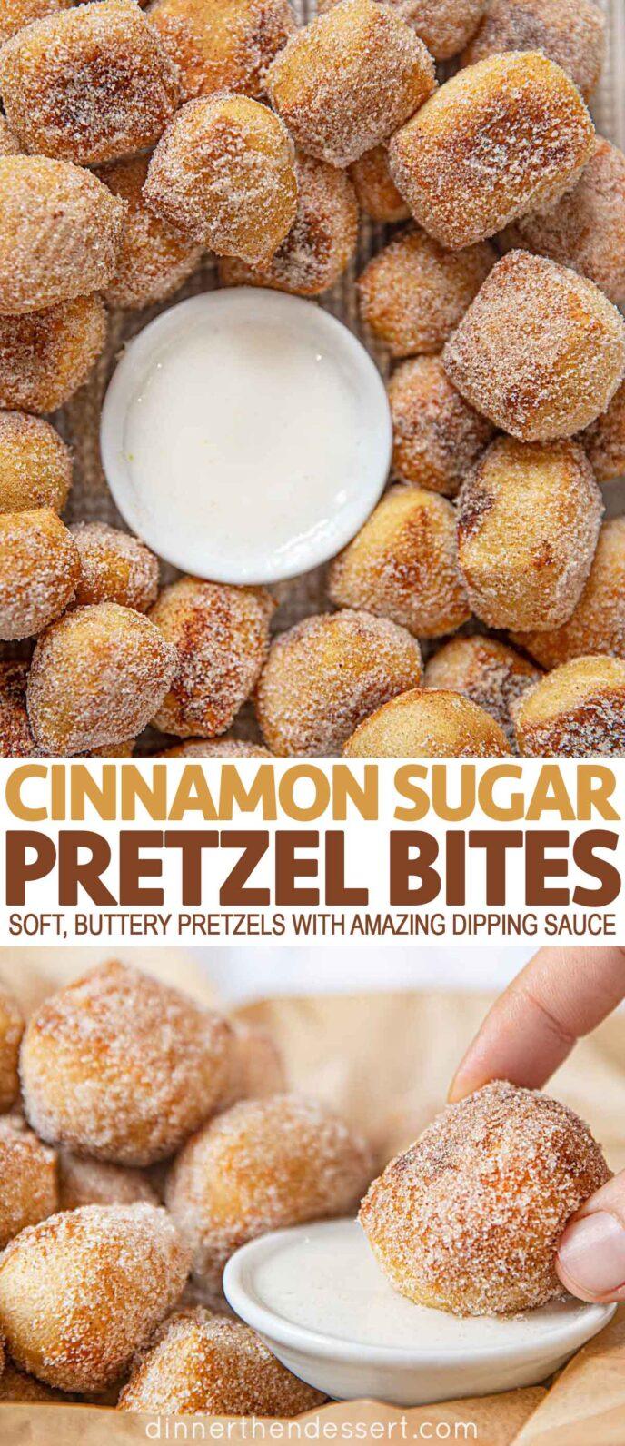 Pretzel Bites with Cinnamon Sugar
