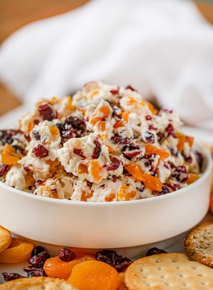 Cranberry Apricot Cheese Dip