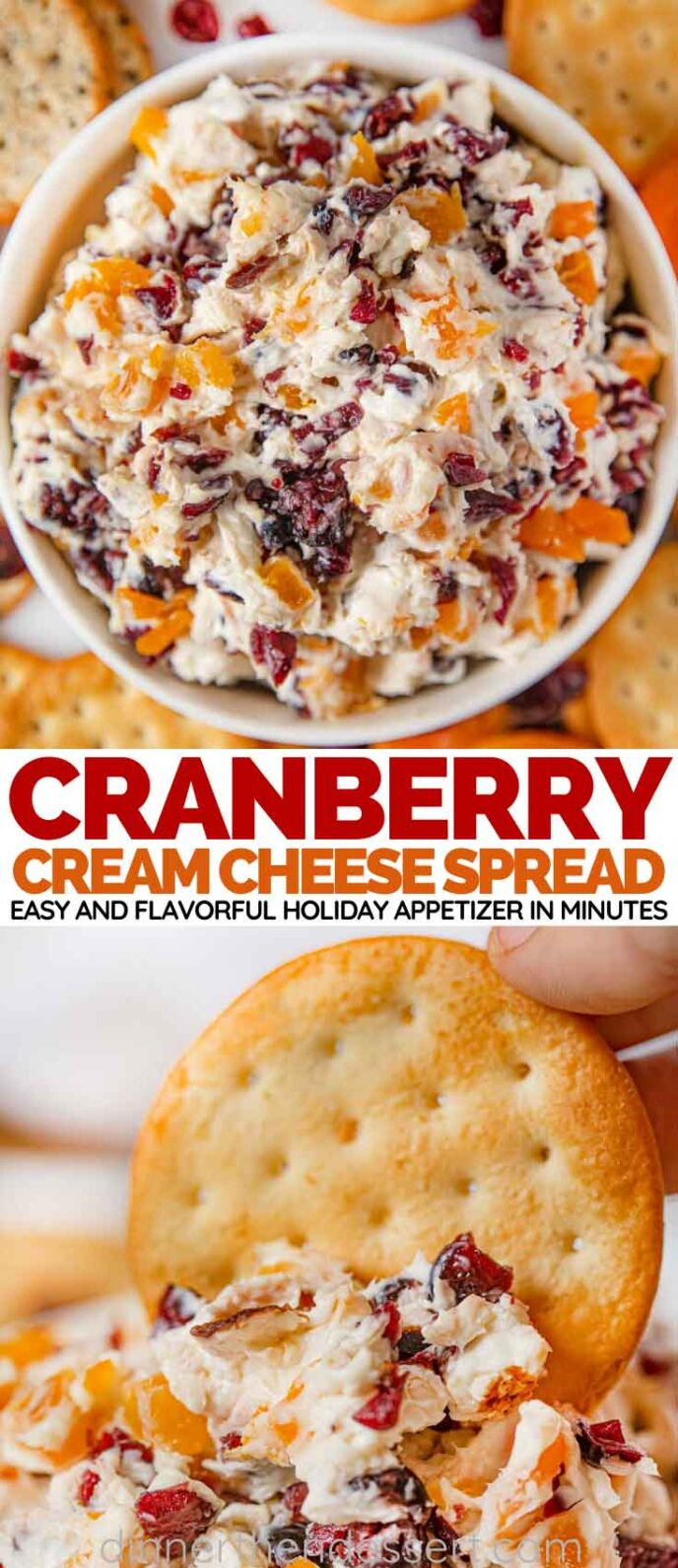Cranberry Cream Cheese Dip collage