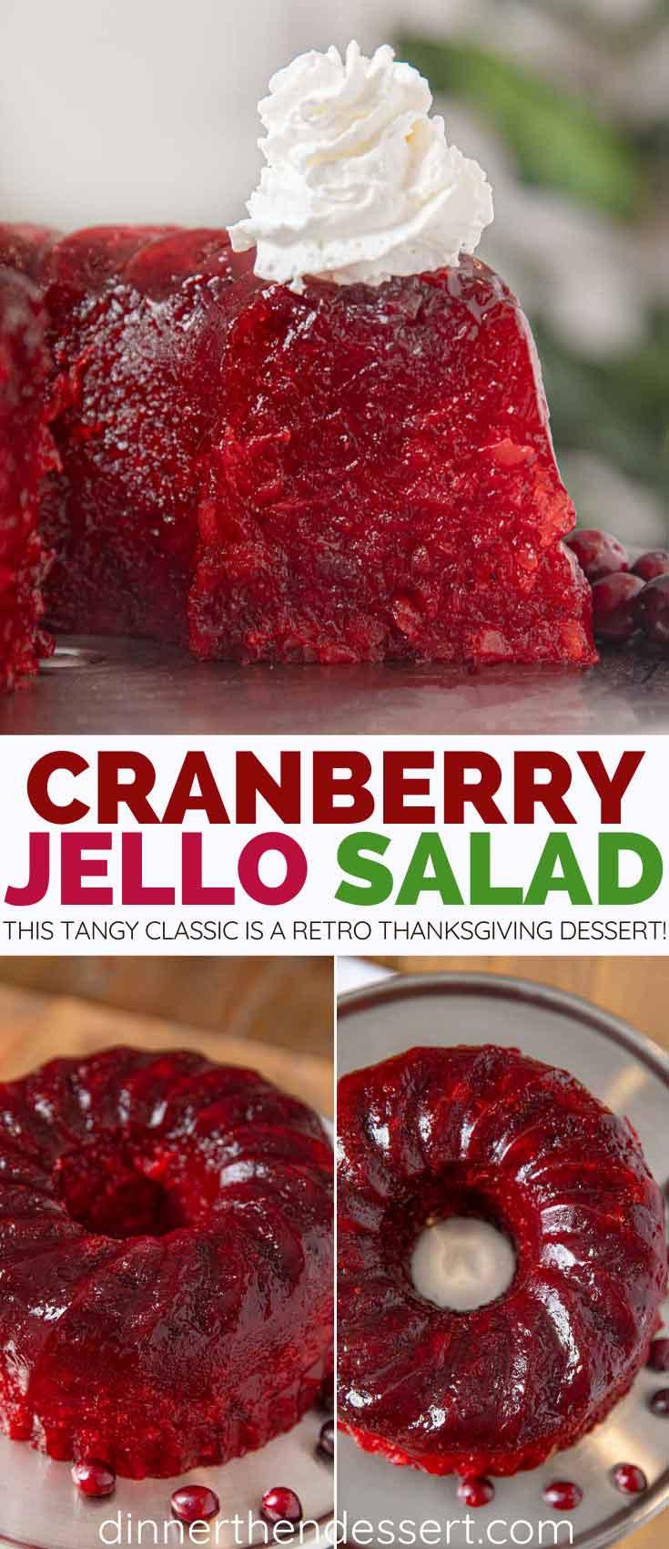 Cranberry jello salad collage