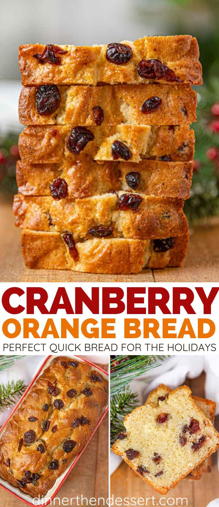 Cranberry Orange Bread collage