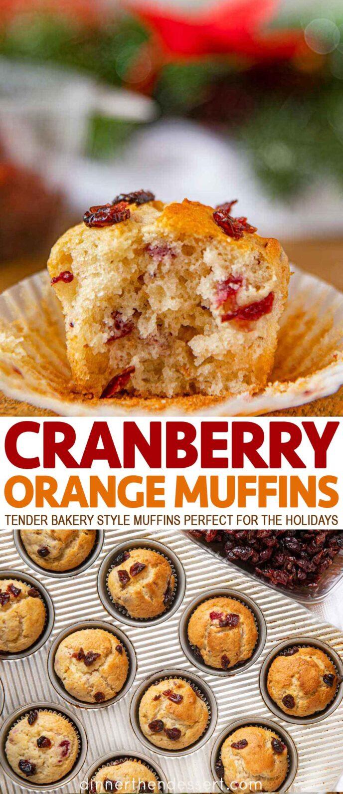 Cranberry Muffins with Orange Zest