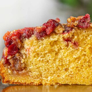 Cranberry Upside Down Cake Slice