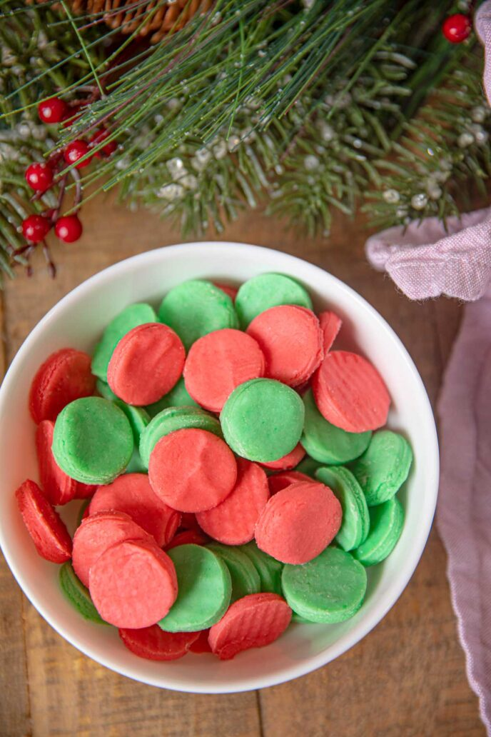 Cream Cheese Holiday Mints