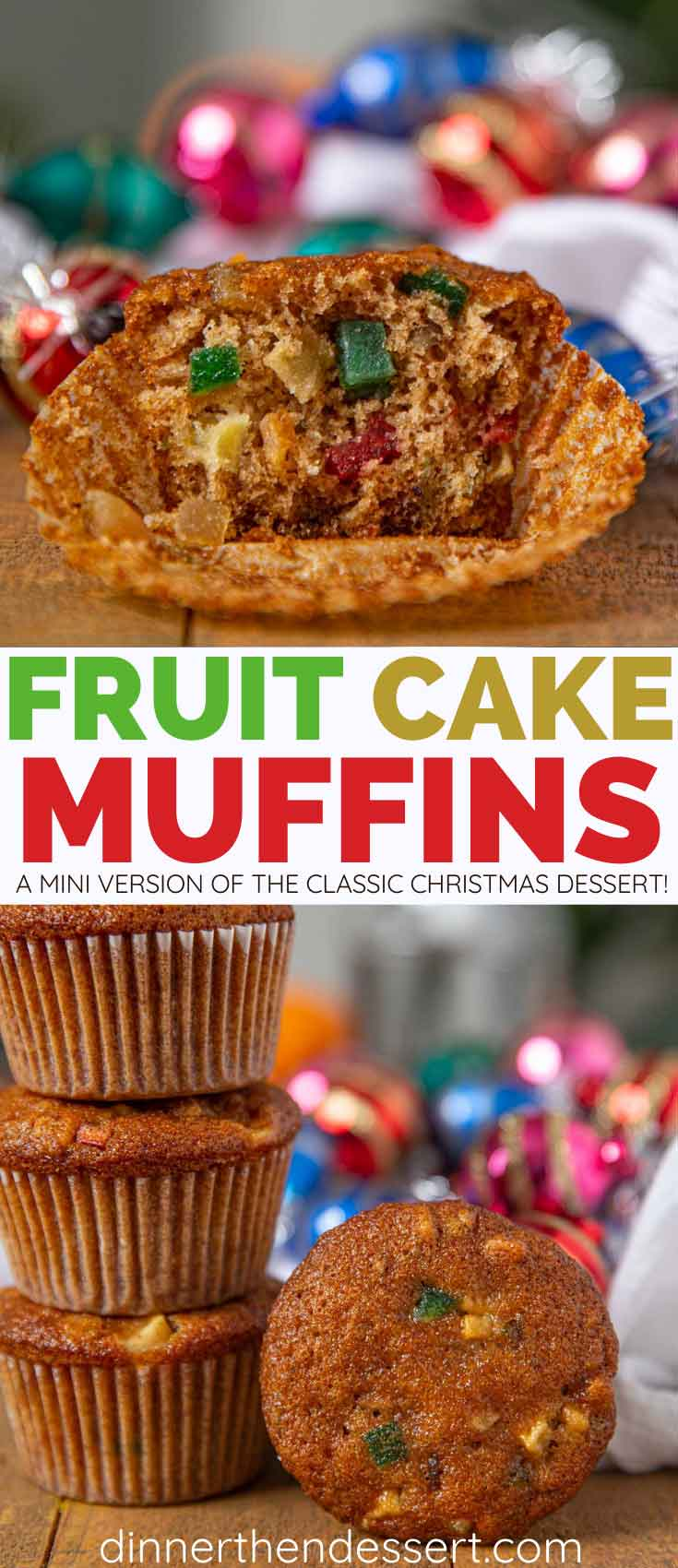 Fruit Cake Muffins Collage