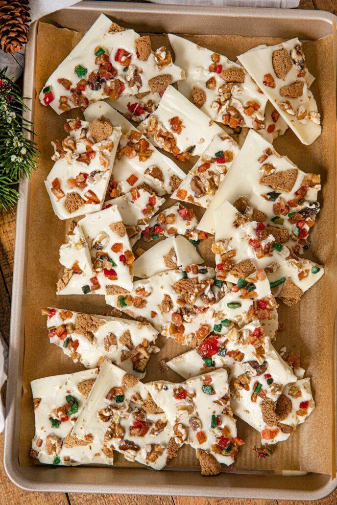 Fruitcake Bark pieces